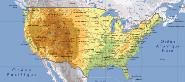 Carte Etats Unis Cote Est.Usa La Faillite Messages Celestes Propheties Pour Les Usa